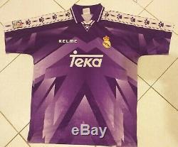 REAL MADRID KELME vtg 1996/97 teka rare Away Football Shirt L Soccer Jersey