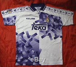 REAL MADRID RETRO third shirt jersey KELME 1996-1997 Galacticos adult SIZE L