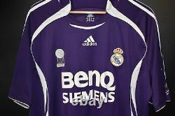 REAL MADRID RONALDO 2006-2007 ORIGINAL AWAY JERSEY Size XL