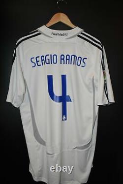 REAL MADRID SERGIO RAMOS 2006-2007 ORIGINAL JERSEY Size L (VERY GOOD)
