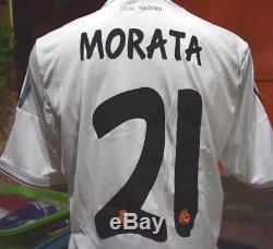 REAL MADRID Shirt Home 2013-2014 sz LBNWT#21 MORATA official nameset, Big LFP
