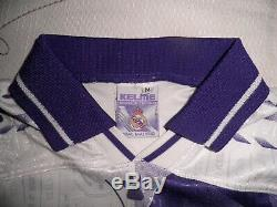 REAL MADRID camiseta rara Kelme 1996 1997 shirt trikot maillot jersey GUTI 96-97