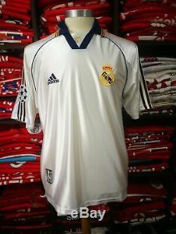 REAL MADRID home 1998/00 shirt REDONDO #6 Argentina-AC Milan-Jersey (M)