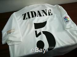 REAL MADRID home 2002/03 shirt ZIDANE #5 France-Juventus-Jerseys-Maillot (M)