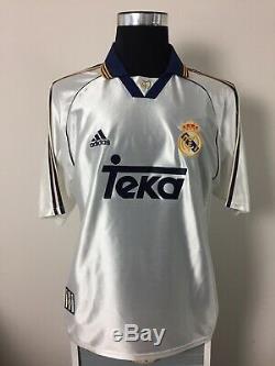 REDONDO #6 Real Madrid Home Football Shirt Jersey 1998-2000 (L)