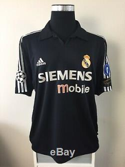 RONALDO #11 Real Madrid Away Football Shirt Jersey 2002/03 (L)