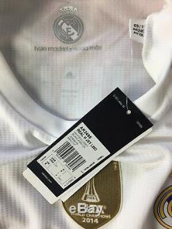 RONALDO #7 BNWT Real Madrid Long Sleeve Home Football Shirt Jersey 2015/16 (L)