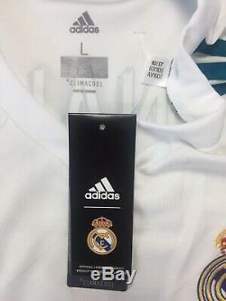 RONALDO #7 BNWT Real Madrid Long Sleeve Home Football Shirt Jersey 2017/18 (L)