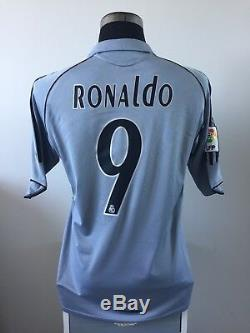 RONALDO #9 Real Madrid Third Football Shirt Jersey 2005/06 (M)