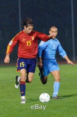 Ramos Spain MATCH WORN WC QUALIFIER 2006 Jersey Real Madrid Shirt Camiseta L