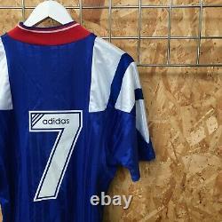 Rangers Adidas Home Shirt 1992/1993'7' M MEDIUM Top Kit Jersey