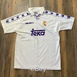 Rare Auth REAL MADRID 1996/1997 KELME VINTAGE FOOTBALL Soccer SHIRT JERSEY Sz M