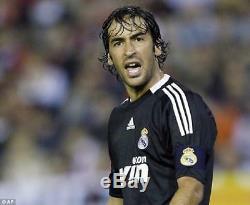Raul Real Madrid 2008 2009 UEFA Jersey Shirt Camiseta Spain Espana Maglia M