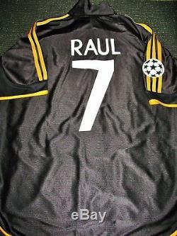 Raul Real Madrid Jersey 1999 2000 UEFA FINAL Shirt Camiseta Spain Espana Maglia