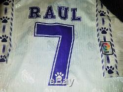 Raul Real Madrid Kelme 1996 1997 ISSUE MATCH WORN Jersey Spain Camiseta Shirt XL