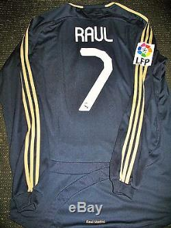 Raul Real Madrid PLAYER ISSUE Jersey 2007 2008 Match Camiseta Shirt Trikot XL