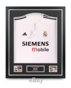 Raul Signed Shirt Real Madrid Framed Autograph Jersey Memorabilia COA
