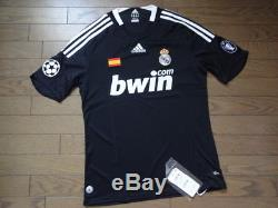 Real Madrid 100% Original Jersey Shirt 2008/09 CL Away M Still BNWT Rare