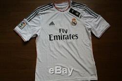 Real Madrid #11 Bale 100% Original Jersey Shirt 2013/2014 Home L NWT 3081