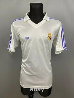 Real Madrid 1981 1986 Home Shirt Football Soccer Jersey Adidas Mens Size M