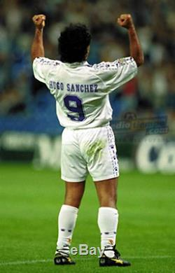 Real Madrid 1996 Hugo Sanchez Mexico Authentic Farewell Jersey