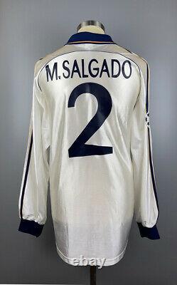 Real Madrid 1999 2000 Salgado Champions League Match Worn Shirt Jersey Camiseta