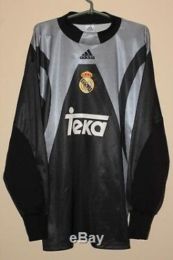 Real Madrid 1999 2000 long sleeve goalkeeper adidas Vintage shirt jersey sz XL