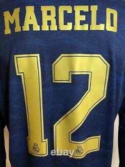 Real Madrid 19/20 Away Climachill Authentic Jersey Marcelo #12 w CL & CWC Badges