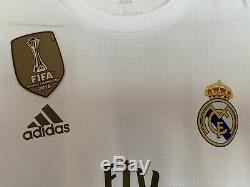Real Madrid 19/20 Jersey Long Sleeve Climachill #4 Ramos w UCL Badges Mens Large