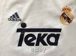 Real Madrid 2000 2001 Home Football Shirt Jersey Adidas Vintage # 10 Figo