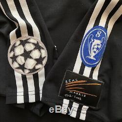 Real Madrid 2001 2002 Away Football Shirt Soccer Jersey Adidas Black