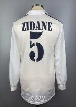 Real Madrid 2002 2003 Zinedine Zidane Player Shirt Jersey Camiseta size L