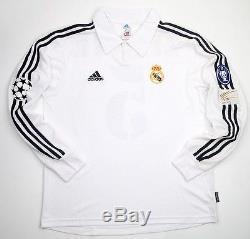 Real Madrid 2002 Zidane Champions League Final Jersey, XL (Mint Condition)