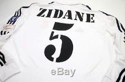 Real Madrid 2002 Zidane Champions League Final Jersey, XL (Mint Condition)