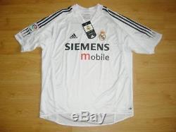 Real Madrid 2004/2005 Raul #7 Adidas Home Shirt Jersey Bnwt Large