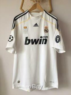 Real Madrid 2009 2010 Cup Champions League Home Football Shirt Jersey Adidas Ucl