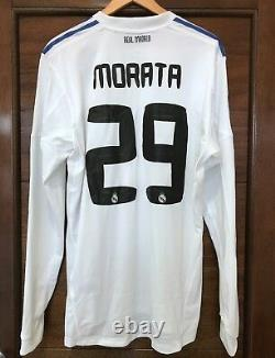 Real Madrid 2010-2011 Morata match used home Formotion player issue jersey