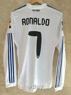 Real Madrid 2010-2011 Ronaldo Final Copa del Rey Formotion player issue jersey