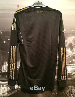 Real Madrid 2011/12 player issue l/s away shirt jersey Medium