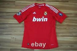 Real Madrid 2011-2012 Third CL Football Shirt Jersey Adidas #20 Higuain Medium