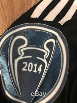 Real Madrid 2014-15 3RD Football Soccer Jersey Shirt ALTERNATE Y3 DRAGON Black M
