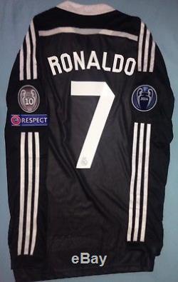 a35e4b5c Real Madrid 2014-15 Champions League Adizero Player Issue 3rd Black Jersey  RARE