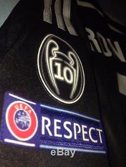 Real Madrid 2014-15 Champions League Adizero Player Issue 3rd Black Jersey RARE
