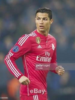 online retailer 0a904 7351e Real Madrid 2014-2015 Ronaldo pink Adizero Champions League ...