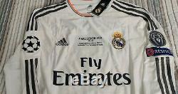 Real Madrid 2014 UCL FINAL CRISTIANO RONALDO HOME JERSEY Size Medium BNWT