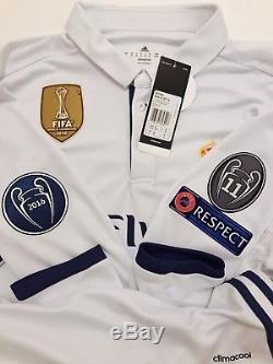 Real Madrid 2016-17 Final Cardiff 2017 UCL Ronaldo shirt camiseta jersey