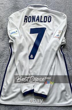 Real Madrid 2016 17 Long Sleeve RONALDO (M) Shirt Club World Cup Jersey BNWT