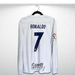Real Madrid 2016 2017 Official Parley Long Sleeve Shirt Ronaldo LS Jersey (M)