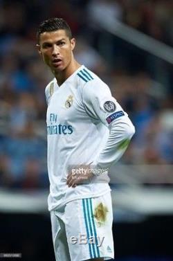 Real Madrid 2017-18 Champions League Adizero Jersey Ronaldo Player Issue RARE