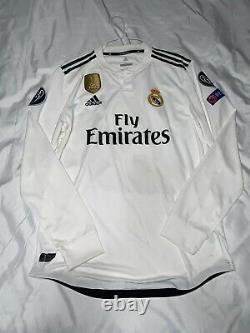 Real Madrid 2018-2019 (sergio Ramos) Adidas Home Kit L/s Authentic Jersey